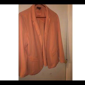 Lane Bryant peach blazer